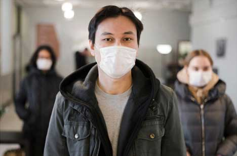 Wear a face mask if you are sick
